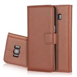 Samsung Galaxy J7 (2017) Plånboksfodral från LEMAN (Läder) Brun