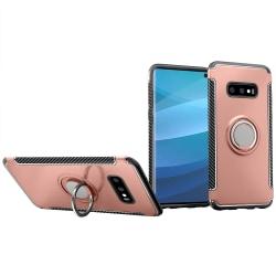 Samsung Galaxy S10 - HYBRID-Skal med Ringhållare från FLOVEME Roséguld