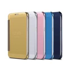 Samsung S5 - LEMANS SmartTouch Fodral ORIGINAL (Auto-sleep) Silver/Grå