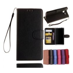 Samsung Galaxy S6 Edge - Stilrent Plånboksfodral från NKOBEE Blå