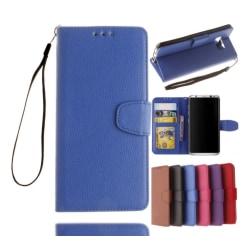 Plånboksfodral av NKOBEE för Samsung Galaxy S6 Edge Blå