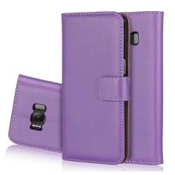 Stilrent Plånboksfodral från LEMAN - Samsung Galaxy S6 Vit