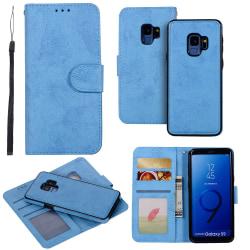 Samsung Galaxy S9 - Fodral med Smartfunktion (LEMAN) Ljusblå