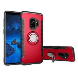HYBRID-Skal med Ringhållare från FLOVEME för Samsung Galaxy S9 Röd