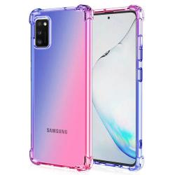 Silikonskal - Samsung Galaxy A41 Rosa/Lila
