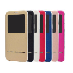 Smartfodral med fönster och svarsfunktion - Samsung Galaxy A8 Röd
