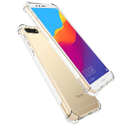 Stötdämpande Silikonskal - Huawei Y6 2018 Transparent/Genomskinlig
