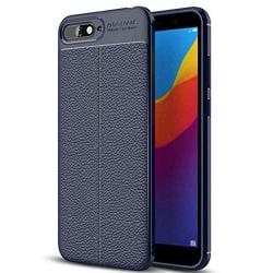 Effektfullt Stilsäkert Skal - Huawei Y6 2018 Mörkblå Mörkblå