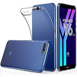 Huawei Y6 2018 - Stötdämpande Silikonskal (FLOVEME) Transparent/Genomskinlig