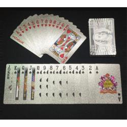 $100 Silver Plast PVC Poker Vattentäta Spelkort Kortlek Silver