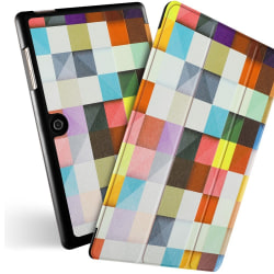 Acer Iconia One 10 B3-A50 Slim Fit - Colorful Grids Svart
