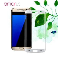 AMORUS Samsung Galaxy S7 Edge Härdat glas - Vit Transparent