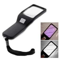 BW-017 Handhållet förstoringsglas Lupp med LED och UV Transparent