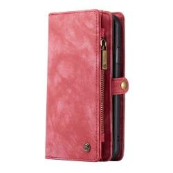 CASEME iPhone 11 Pro Retro Split läder plånboksfodral - Röd Röd