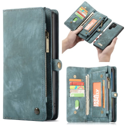 CASEME Samsung Galaxy Note 10 Plus Retro Plånboksfodral - Blå Blå