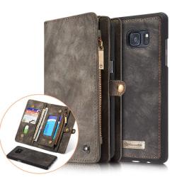 CASEME Samsung Galaxy Note 8 Retro läder plånboksfodral Grå grå