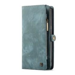 CASEME Samsung Galaxy Note 9 Retro läder plånboksfodral Blå Blå