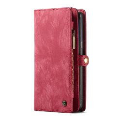 CASEME Samsung Galaxy Note 9 Retro läder plånboksfodral Röd Röd