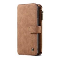 CASEME Samsung Galaxy S10e Retro läder plånboksfodral - Brun Brown