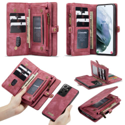 Samsung Galaxy S21 Ultra CASEME 2-i-1 Avtagbar - Röd Röd