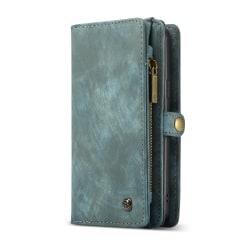 CASEME Samsung Galaxy S9 Retro läder plånboksfodral - Grön Blå