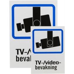 DELTACO Plastskylt, TV/Video-bevakning, A4 & A5-storlek