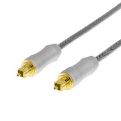 DELTACO PRIME High End Toslink, optisk kabel 2 meter Svart