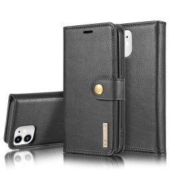 DG.MING iPhone 12 Mini Split Läder Plånboksfodral - Svart Svart