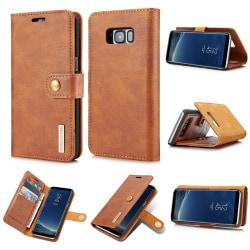 DG.MING Samsung Galaxy S8 Split Läder Plånboksfodral - Brun Brown