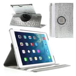 Fodral iPad 9.7 (2017/2018)iPad Air 360 rotation Krokodil Silver Silver