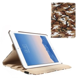 Fodral iPad Air / Ipad 5, 360 rotation Kamouflage Brun