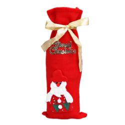 Glögg Vinflaska Dekoration Hållare - Jultomte