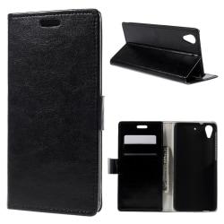 HTC Desire 626 Plånboksfodral / fodral Svart