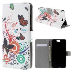 HTC One A9 Plånboksfodral Butterfly Circles Svart
