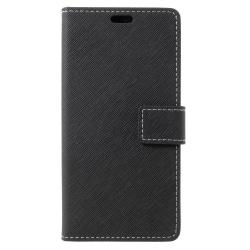 HTC U11 Life Plånboksfodral Cross Texture -  SVART Svart
