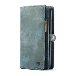 Huawei P30 CASEME Retro läder plånboksfodral Blå Blå