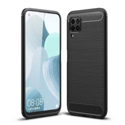 Huawei P40 Lite Karbon fiber Texture Skal - Svart Svart