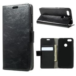 Huawei P9 Lite Mini Plånboksfodral Retro - Svart Svart