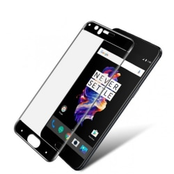 IMAK Full Cover Tempered Glass till OnePlus 5 - Svart Transparent