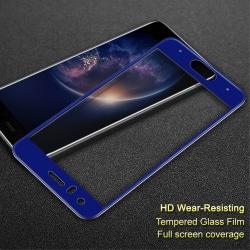 IMAK Heltäckande Härdat Glas Huawei Honor 9 - Blå Transparent