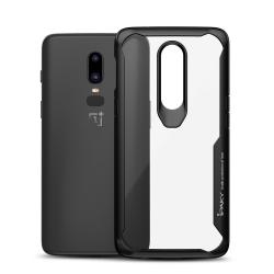 IPAKY OnePlus 6 TPU Hybrid Skal - Svart Svart