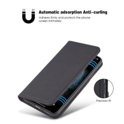 iPhone 12 / 12 Pro Plånboksfodral / Fodral PU Läder - Svart Svart