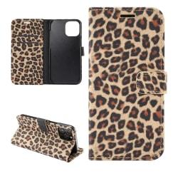 iPhone 12 / 12 Pro Plånboksfodral Fodral Leopard - Brun Brun