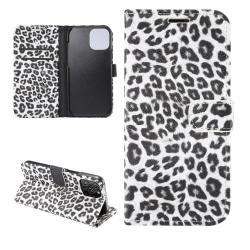 iPhone 12 Pro Max Plånboksfodral Fodral Leopard - Vit Vit