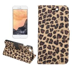 iPhone 7 / iPhone 8 / SE Plånboksfodral / Fodral Leopard Gul - B Brun
