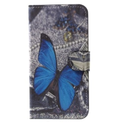 iPhone X / XS Plånboksfodral - Blue Butterfly Blå
