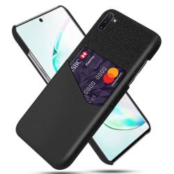 KSQ Samsung Galaxy Note 10 Skal med kortplats - Svart Svart