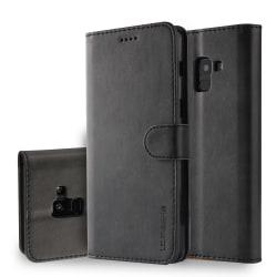 LC.IMEEKE Wallet Case till Samsung Galaxy A8 (2018) - Svart Svart