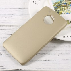 Lenovo Moto G5 Skal Plastskal Rubberized - Guld Guld