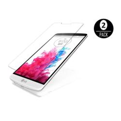 LG G3 S Skärmskydd x2 med putsduk Transparent